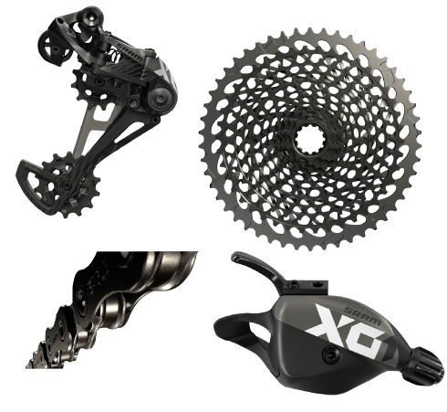 SRAM X01 Eagle Group set BLACK 10-50T 12 Speed Drivetrain XD Driver Cassette