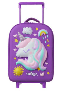 Smiggle Wink Teeny Tiny Hardtop Trolley Bag Purple