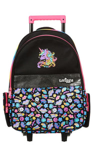 Smiggle Express Trolley Backpack With Light Up Wheels Black