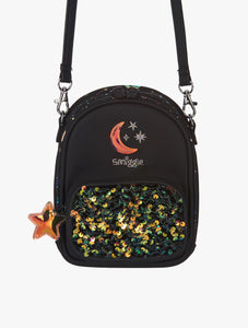 Smiggle Kid's Mini Lunar Convertible Crossbody Bag Black