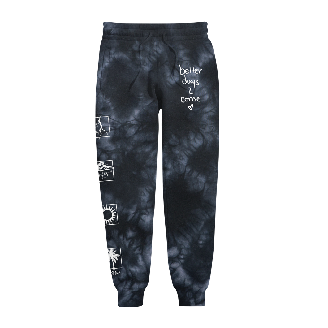 Better Days Black Tie Dye Sweats