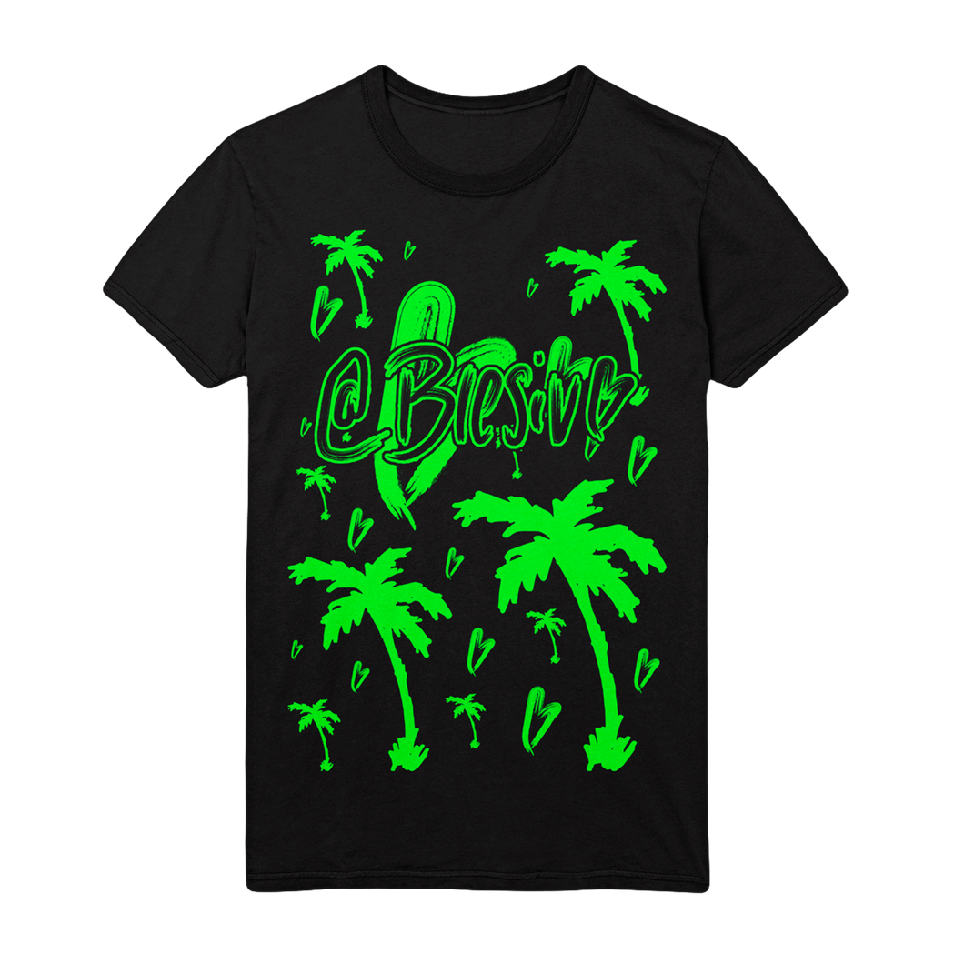 Icon Palms Black Tee