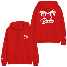 Load image into Gallery viewer, Palm Trees Red Hoodie