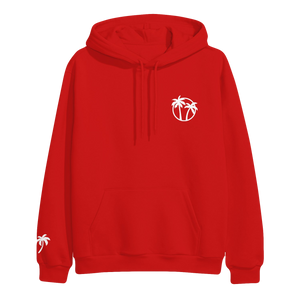 Palm Trees Red Hoodie