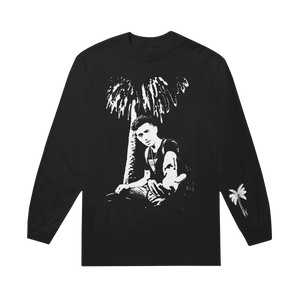 Stencil Black Long Sleeve Tee