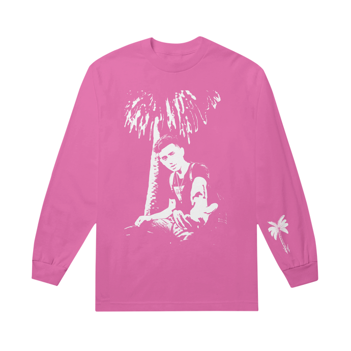 Stencil Pink Long Sleeve Tee