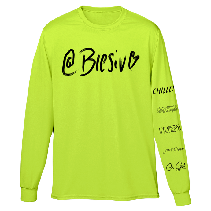 Phrases Safety Green Long Sleeve