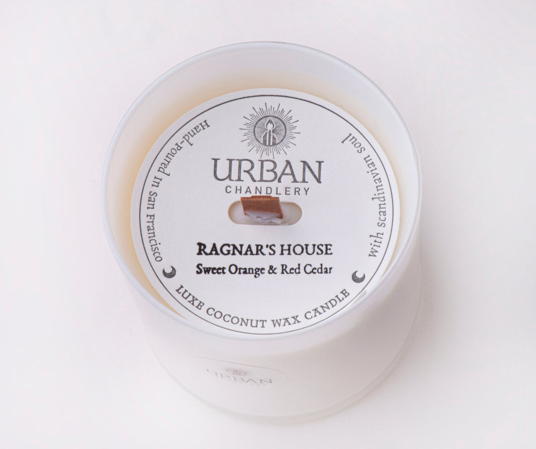 RAGNAR'S HOUSE - Sweet Orange & Red Cedar Luxe Candle