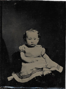 Tintype Photograph of a Wide-Eyed Baby