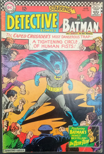 Detective Comics No. 354, Starring Batman, DC Comics, August 1966