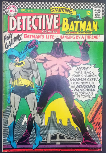 Detective Comics No. 355, Starring Batman, DC Comics, September 1966