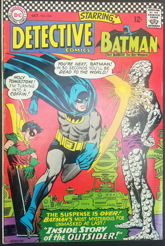 Detective Comics No. 356, Starring Batman, DC Comics, October 1966