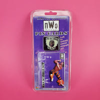New World Order Wrestling Macho Man Randy Savage Pin Card, 1997 NOS