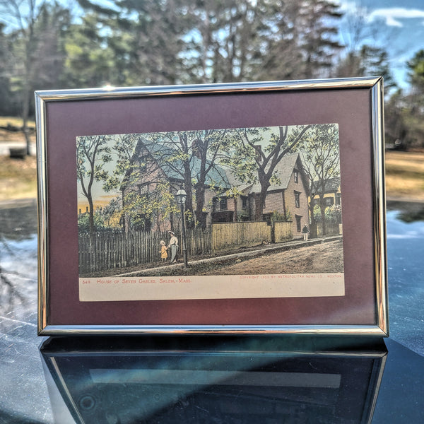Framed 1905 House of the Seven Gables Postcard