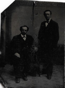Tintype Photograph of a Two Important Looking Men