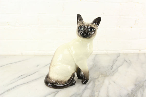 Beswick Porcelain Siamese Cat Statue 1882, Made in England, 9""