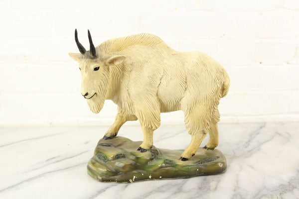 Chalkware Rocky Mountain Goat Statue, An Orn-A-Craft Product, 1947