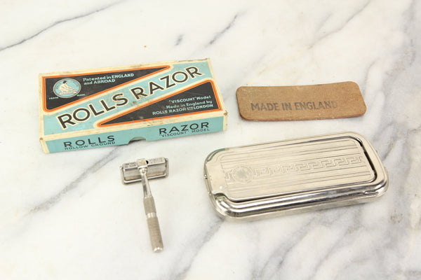Rolls Razor Viscount Model Safety Razor Kit in Box, Made in England