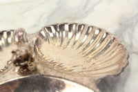 Pilgrim Silver Plate Three Section Nut & Candy Dish with Squirrel
