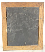 Antique Rock of Ages Print in Frame with Mirrored Back - 10.5 x 12.5""