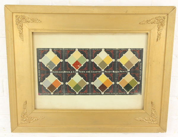 Harrison Bros & Co. Ready Mixed Paint Color Chart Advertisement Framed - 19.5 x 15.5""