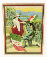 Kingdom of Italy World War I Chromolithograph Print in Frame - 15.5 x 19.25""