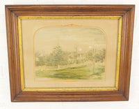 Colored Etching of a New England Home by J.F. Cabot & Brother - 18.5 x 15""