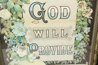 God Will Provide 1884 Devotional Calendar Print in Frame - 17.5 x 22""
