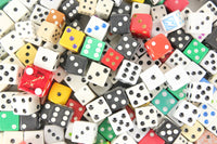 Assorted Traditional 6-Sided D6 Dot Cubic Dice