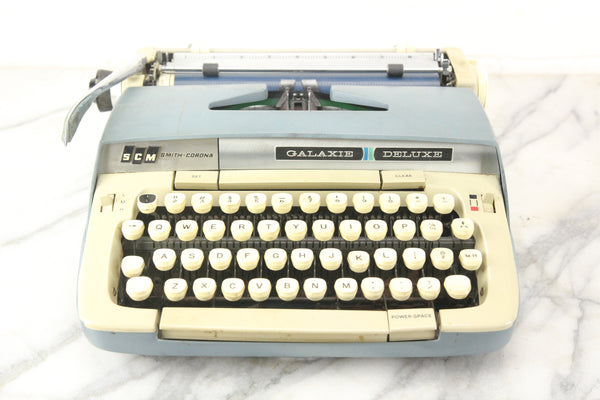 Smith-Corona Galaxie Deluxe Portable Typewriter with Case, 1960s