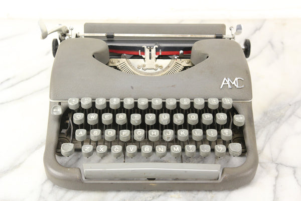 AMC Portable Typewriter with Case, Made in France, 1950s