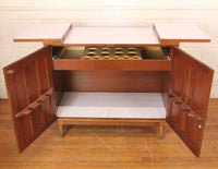 Mid-Century Modern Fold-Out Bar Storage Cabinet by Extensole