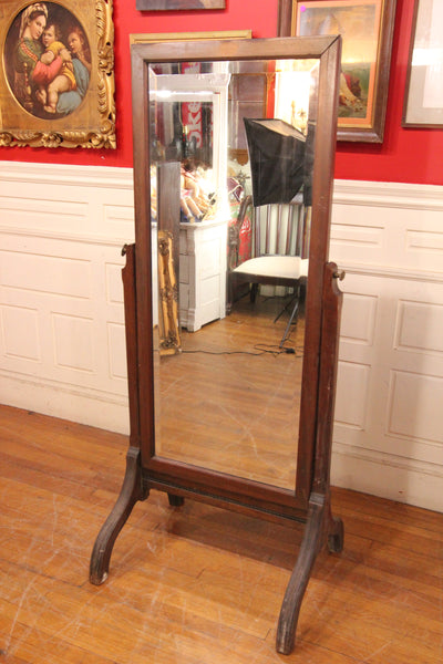 Vintage Full Length Dressing Room Free Standing Beveled Mirror