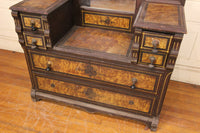 Victorian Dropwell Six Drawer Dresser with Mirror