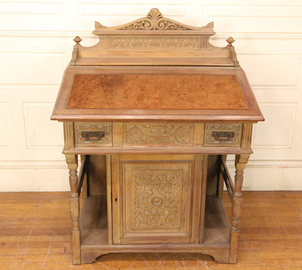 19th Century Felt-Top Davenport Desk