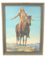 "Cyrus Dallin ""Appeal to the Great Spirit"" Framed Print - 13.5 x 17.75"""