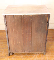 Shabby Marble Top Four Drawer Cabinet