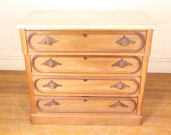 Four Drawer Country Pine Dresser with Faux-Marble Top
