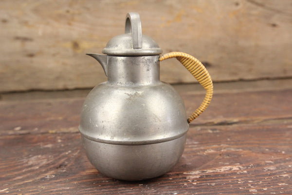 International Pewter #6001 Miniature Tea Pot with Woven Handle