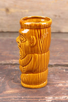 Brown Tiki Mug, Made in Taiwan