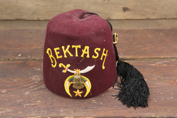 Bektash Shriners Concord, NH Vintage with Tassel and Camel Brooch