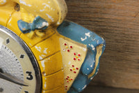 Chalkware Dutch Girl Cute Clock with Lanshire Movement (Nonfunctioning)