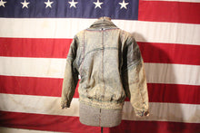 "Load image into Gallery viewer, Denim and Leather ""Zipperology"" Jacket by Winlit, Size M"