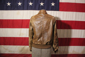 Adam Spencer Brown Leather Jacket, Size 38