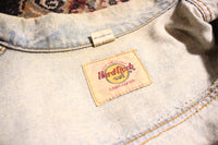 "Hard Rock Cafe, Orlando, FL, ""Save the Planet,"" Acid Wash Denim Jacket, Size S"