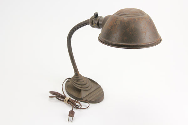 Eagle Electric Mid-Century Art Deco Industrial Gooseneck Desk Table Lamp #5805