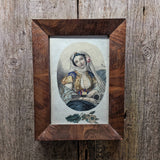 Nicely Framed Antique Print of Woman, Likely Italian