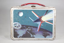 Load image into Gallery viewer, Retro Futuristic Outer Space Themed Thermos Brand Metal Lunchbox, 1950s