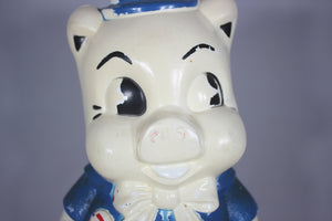 Porky Pig Plastic Blow Mold Bank by Empire
