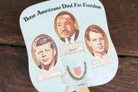 Ashley-Grigsby Mortuary, Inc. John F. Kennedy, Robert Kennedy, and Martin Luther King Advertising Church Fan
